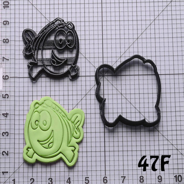 US $4 75 5% OFF|Cartoon TV Bubble Guppies Series Fondant Cupcake Mould  Custom Made 3D Printed Cookie Cake Cutter Kitchen Accessories-in Cookie  Tools