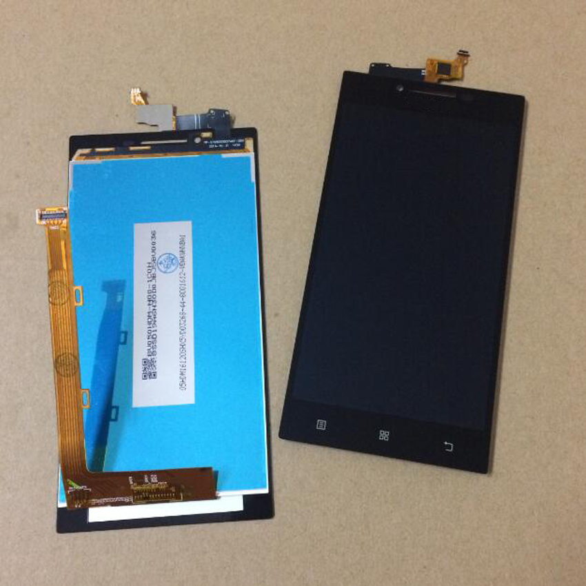 Prix pour TOP Qualité Noir Plein LCD Affichage à L'écran Tactile Digitizer Assemblée Pour Lenovo P70 P70-t P70t Remplacement Réparation Livraison gratuite