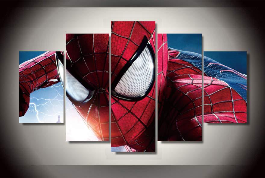 <font><b>Framed</b></font> Printed <font><b>the</b></font> <font><b>amazing</b></font> <font><b>spider</b></font> <font><b>man</b></font> Group Painting children's room decor print poster picture canvas Free shipping/jj-1372