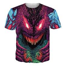 Fashion Clothing Hyper Beast T-Shirt Psychedelic Tops Tees Women Men Casual Tshirt 3D Harajuku T Shirt Outfits Oversized R2834