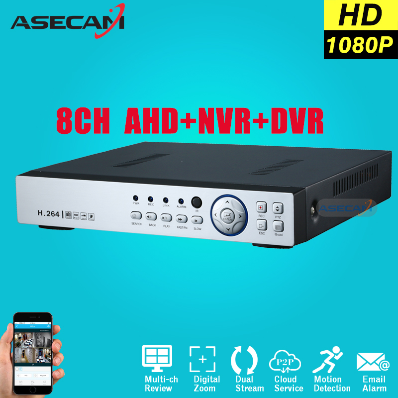 Super New 8CH AHD DVR AHD-H HD 1080P Video Recorder H.264 CCTV Camera Onvif Network 8 Channel IP NVR Multilanguage With Alarm new 4 ch channel h 264 home network 5 in 1 mini cctv 1080p hdmi ahd tvi cvi dvr onvif nvr p2p security video recorder systems