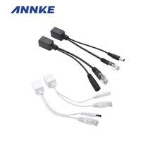 ANNKE (10 пара) POE кабель-Адаптер Разъемы Пассивный Силовой кабель Ethernet PoE Адаптер RJ45 Injector + Splitter Kit 5 В 12 В 24 В 48 В