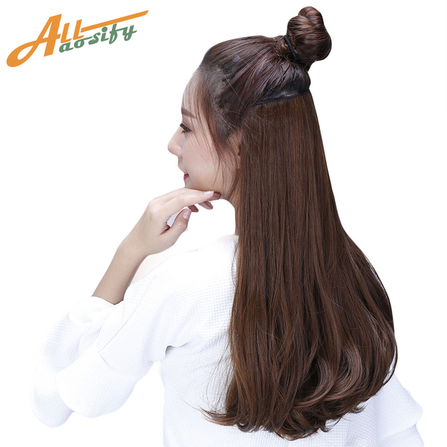 Allaosify Long Curly 1piece 6 Clips 24 Inch Hair Extensions Heat