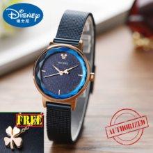 6460e53dbf9e Marca Disney mickey mouse mujer reloj de pulsera de acero inoxidable de cuarzo  mujer reloj mujeres relojes de diamante ciudadano.