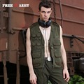Free Army Brand Vests Mesh Sleeveless Vest Suede Jacket Military Casual Coats & Jackets Men's Vest Traveling Waistcoats Ms-6033