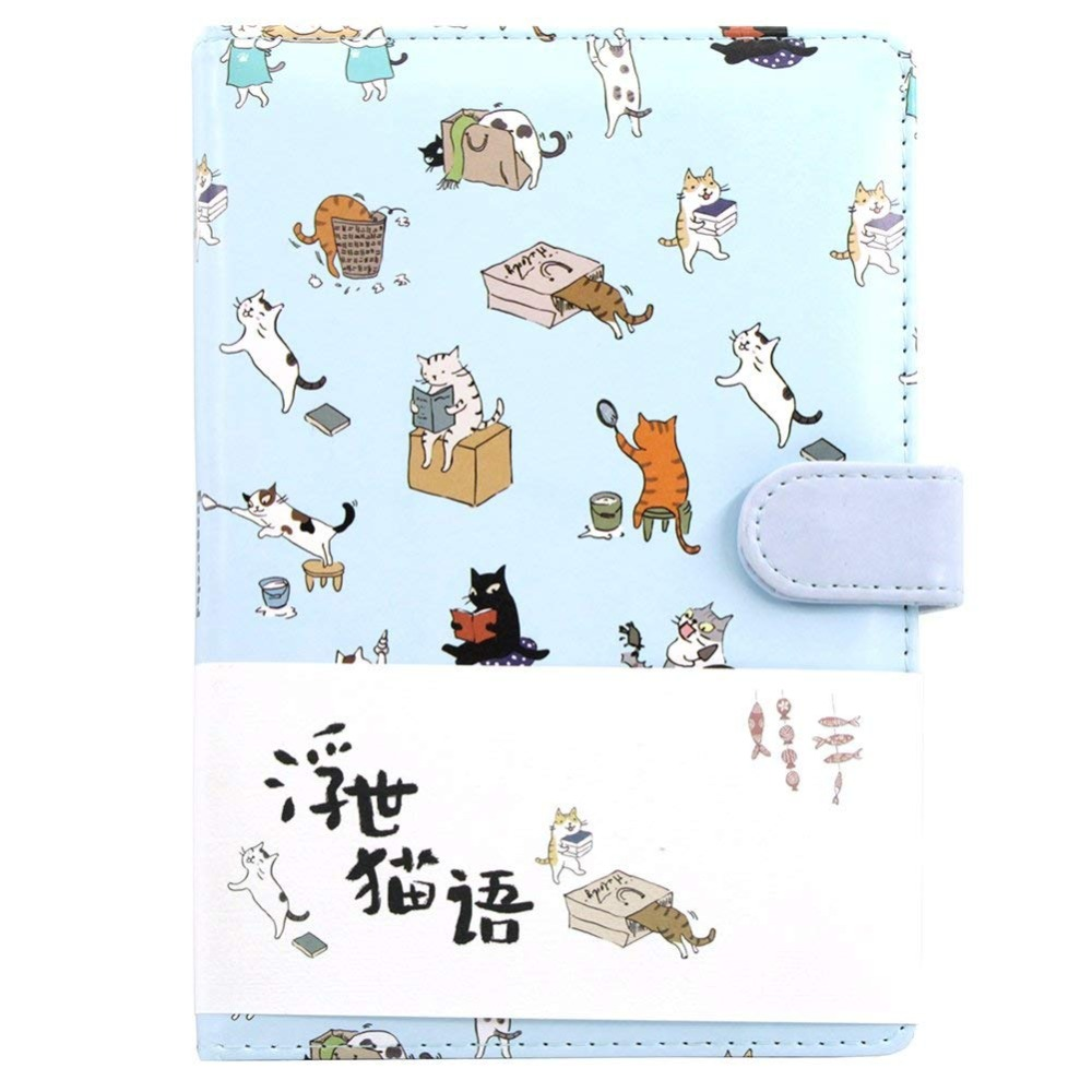 Cute Cartoon Cat Diary Notebook Gradient Color Pages Travel Journal Sketching Book Lined Paper 260 Page Perfect For Writing Gift