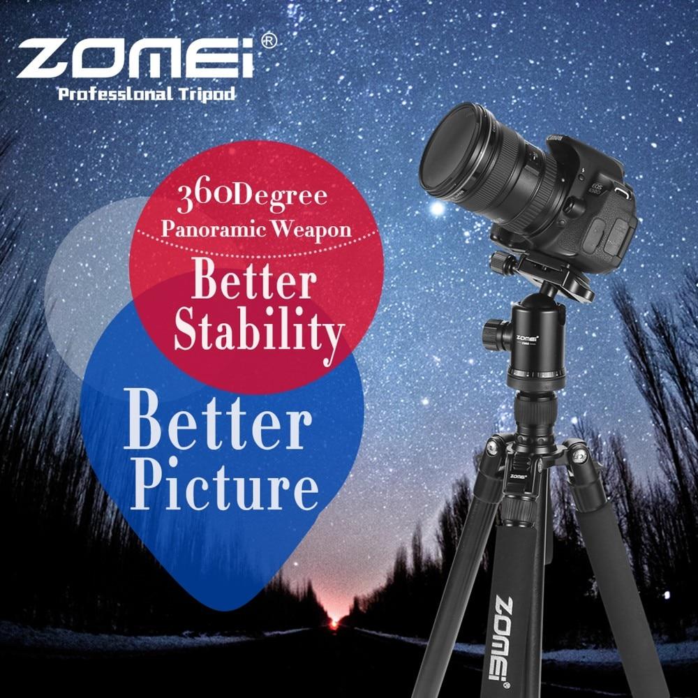 ZOMEI Z688 Portable Pro Aluminum Tripod Monopod&Ball Head Travel for DSLR Camera pro q308 aluminum portable digital photography tripod with ball head