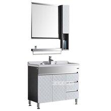 HSL-001 напольный шкаф 201 из нержавеющей стали для ванной комнаты, мраморная столешница для раковины, современный комбинированный шкаф для раковины