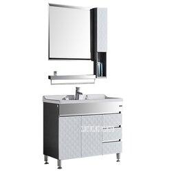 HSL 001 rodzaj podłogi 201 ze stalowa szafka łazienkowa marmurowy blat umywalka szafka nowoczesne zlewozmywak w szafka w łazience|Toaletki łazienkowe|   -