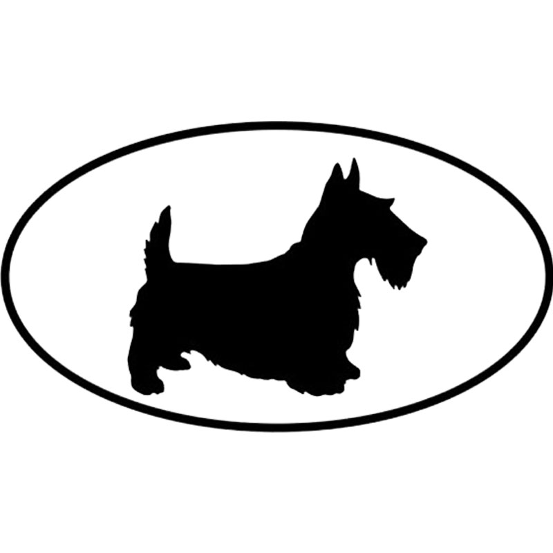 13.8*7.7CM Scottish Terrier Dog Car Stickers Personality Vinyl Decal Car Styling Truck Accessories Black/Silver S1-0664