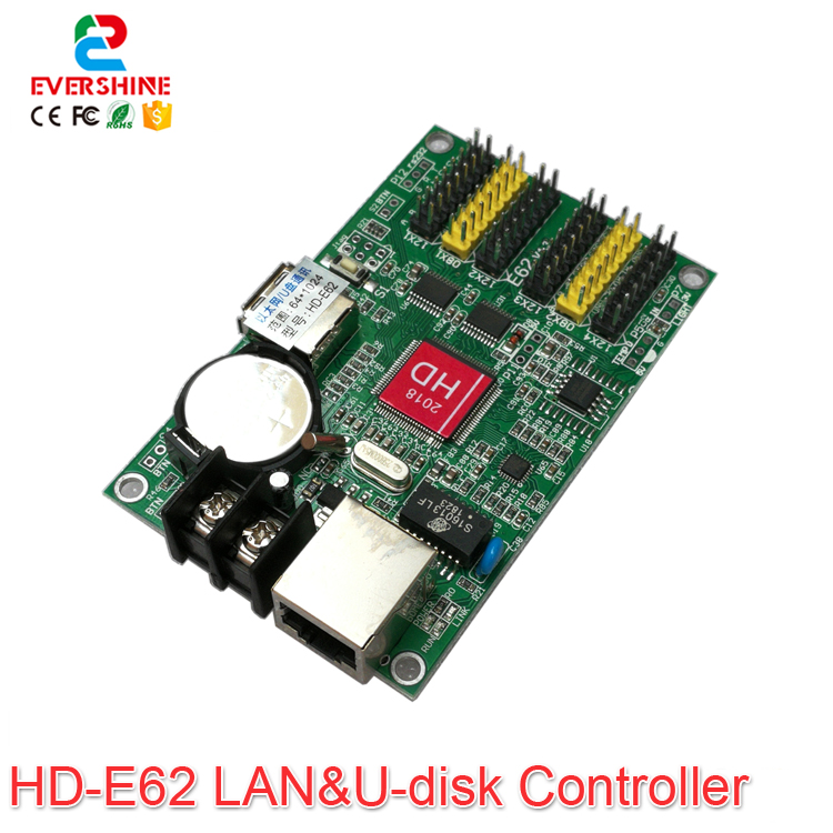 Huidu HD-E62 HD-E63 HD-E64 HD-E66 Single Color U-disk And Ethernet Control Card Use For P10 F3.75 P4.75 Single Color LED Module