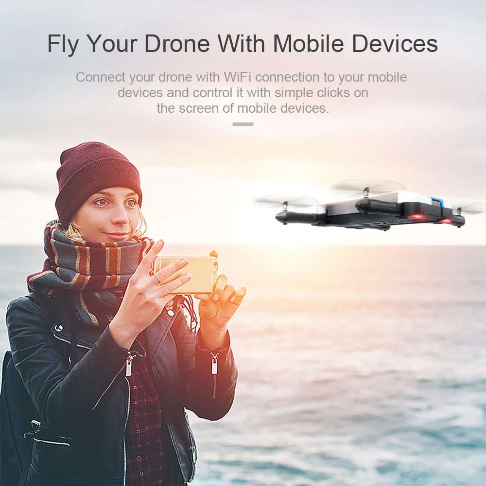 JJRC JJRC H61 720P Camera Selfie Drone Wifi FPV Foldable Drone RC Quadcopter 6Axis Gyro Mini Dron RC Helicopter Phone Control (21)