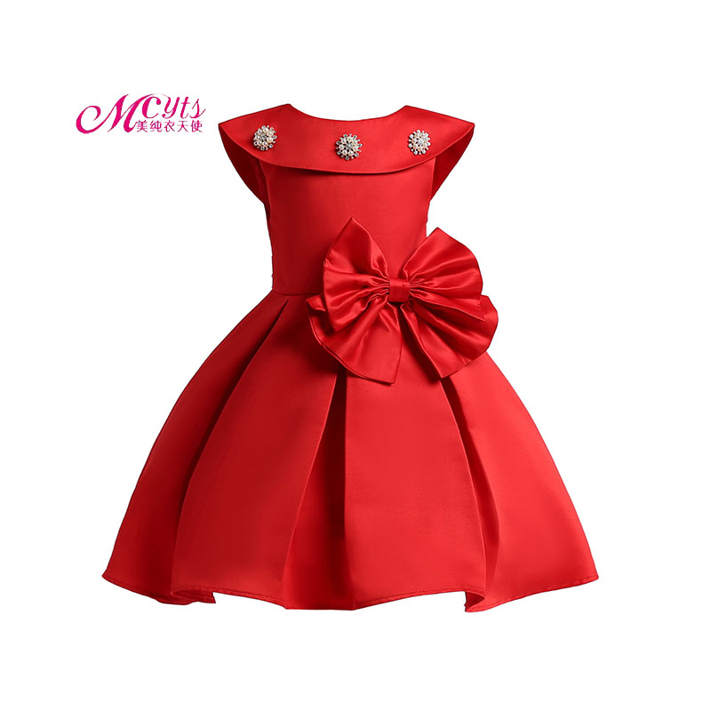 Kids Clothes Girls Wedding Dress Summer Party Dresses For Girl Vestidos infantil Big Bow Princess Dress 3 4 5 6 7 8 9 10 Years цена