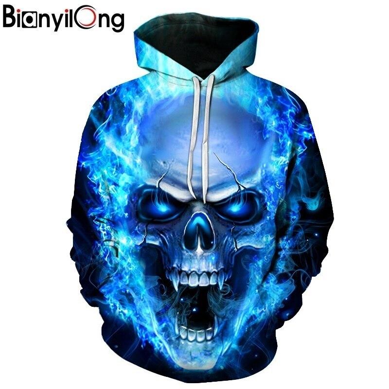 Tienda Online Azul rojo 3D cráneo HOODIE hombres mujeres moda invierno  primavera ropa deportiva hip hop marca Sudadera con capucha Dropship  34596dfcc03