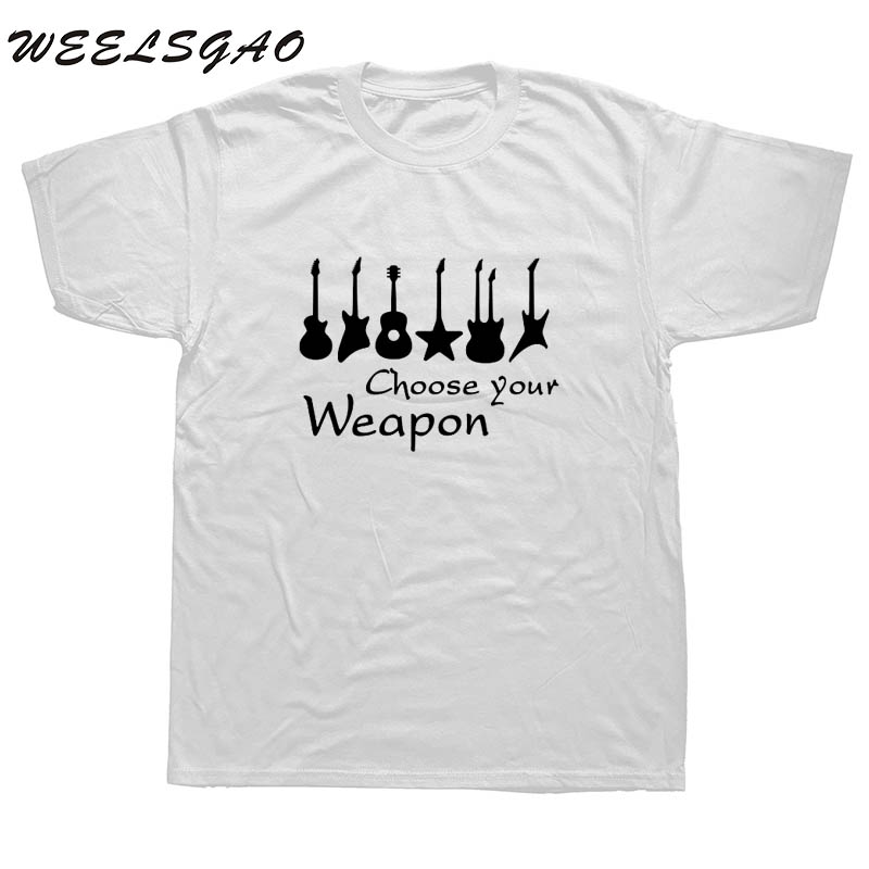 WEELSGAO New Fashion Choose Your Weapon Guitar T Shirt Women O-neck Cotton Short Sleeve Girls Tshirt Rock Roll T-shirt Tee