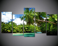 Diy Diamond Painting Summer Landscape 3D Rhinestone Cross Stitch Kits Diamond Embroidery Coconut Tree Needlework Set