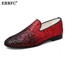 ERRFC Luxury Men Casual Shoes Sleek Fashion Loafer Shoes Round Toe Glitters  Bling Stylish Shoes Man 4e9ddc466e65