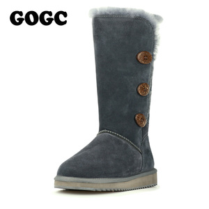 Image 3 - GOGC 2018 Women Winter Boots Snow Boots Warm Womens Winter Boots with Wool Fur Comfortable Genuine Leather Womens Shoes 9722