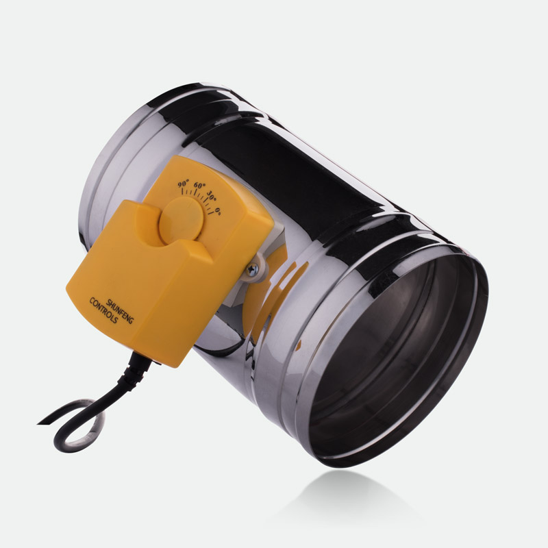 150MM Stainless Steel Motorized Air Damper Valve Round Duct Adjustable Air Regulating Damper Electric Three Position 220V