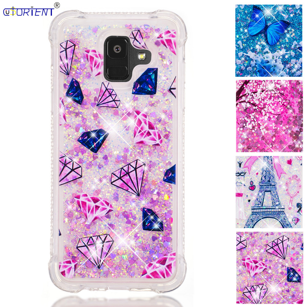 Cellphones & Telecommunications Back Funda For Samsung Galaxy A6 2018 Dynamic Liquid Quicksand Shockproof Case Sm-a600fn/ds Sm-a600fn Soft Silicone Bumper Cover