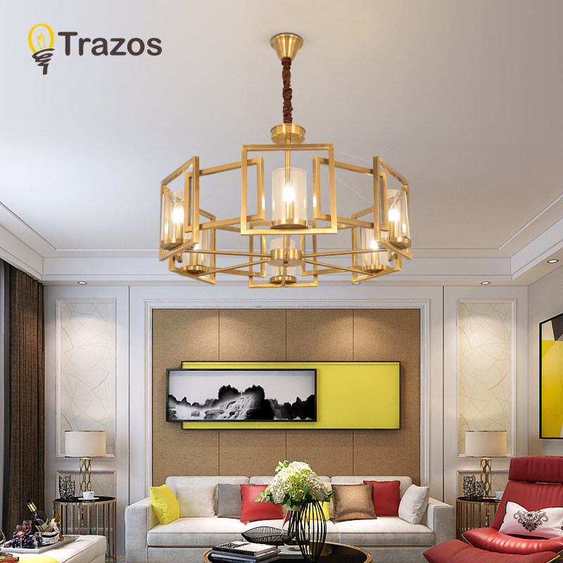 Double Staircase Foyer: Modern LED Double Spiral Gold Chandelier Lighting For