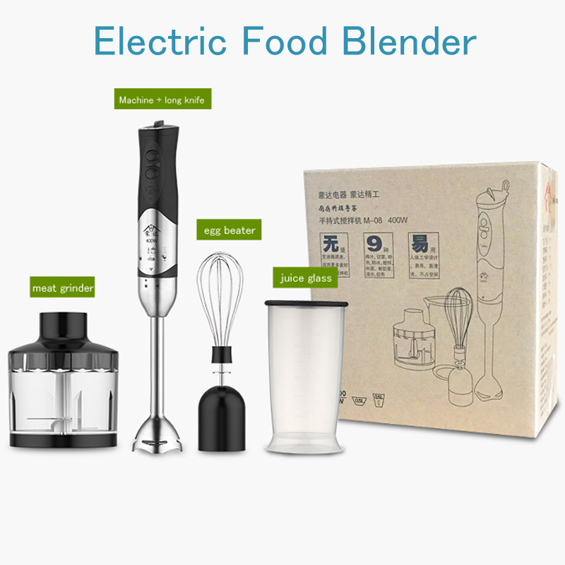 Electric Food Blender 400W Multi-Function Food Processor Stainless Steel Meat Grinder Fruit Milk Shake Mixer M-08 2l heavy duty commercial grade juicer fruit blender mixer bpa 3 speed 2200w professional smoothies food mixer fruit processor