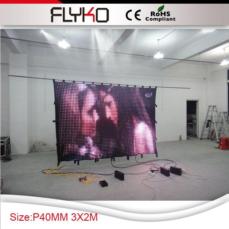 С алиэкспресс горячая Распродажа p40mm 2x3 м лидер производства светодиодный экран