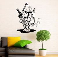 Storm Trooper Wall Decal Star Wars Cartoon Vinyl Sticker Home Interior Nursery Art Design Children Room