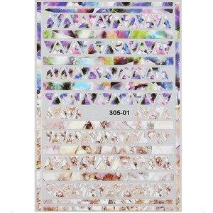 1 шт., наклейки для ногтей из змеиной стикеры 3D на ногти Nail Art, мраморный камень, сетка, леопард, наклейки для ногтей, японские аксессуары для ногтей, украшения для ногтей