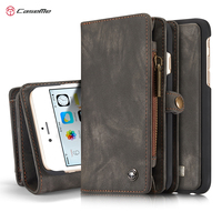 For IPhone 6 Plus 6s Plus Phone Bag Cases Cover Brand CASEME Zipper Wallet Leather Flip