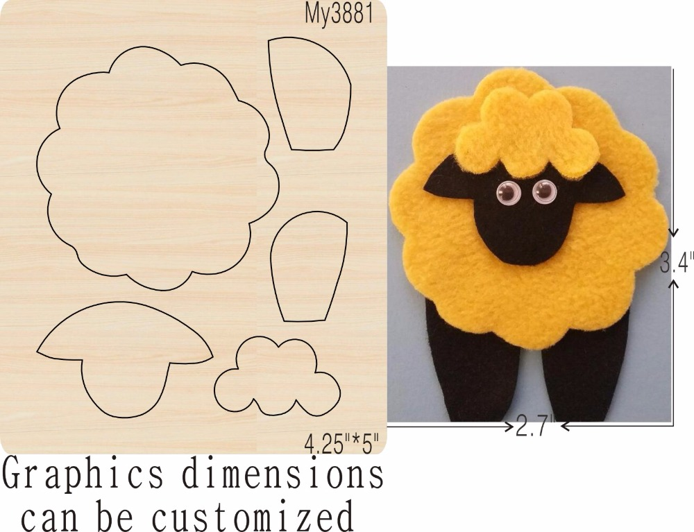 Sheep new wooden mould cutting dies for scrapbooking Thickness 15 8mm