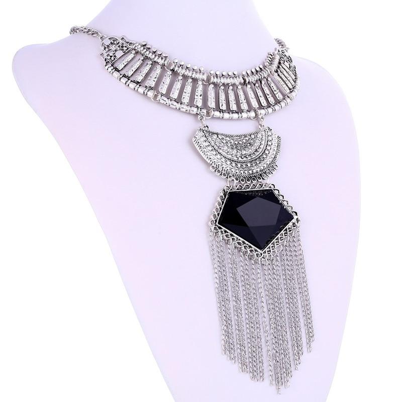 LOVBEAFAS Mode Multi Layer Maxi Halsband Fin smycken Uttalande - Märkessmycken - Foto 4