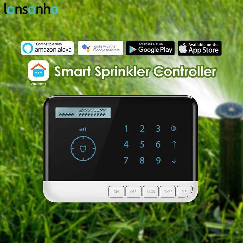 LonSonHo WiFi Smart Pelouse Arrosage Contrôleur Fonctionne avec Alexa Google Maison Mini Assistant Compatible Smart Domotique
