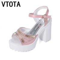 VTOTA Women Sandals 2017 Platform Sandals Women New Summer Shoes Open Toe High Heels Sandals Women