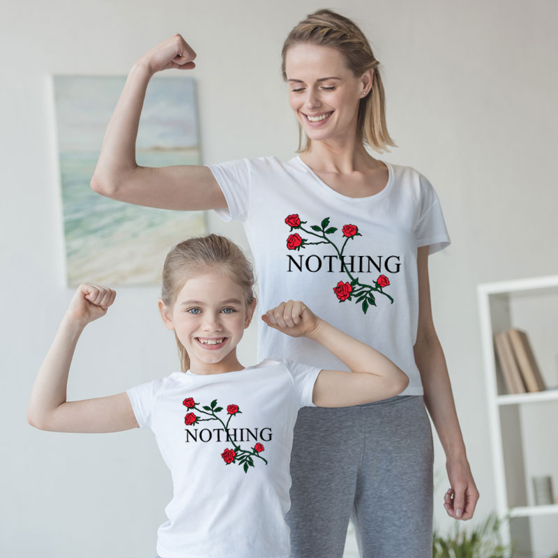 mother and daughter clothes family matching outfits look mommy and me tshirt mom mum son baby girl dresses clothing big sister in Matching Family Outfits from Mother Kids