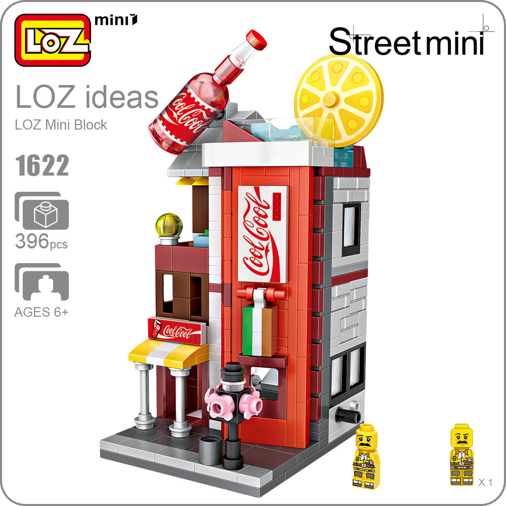 Street Mini LOZ Architecture Blocks Building City Series Plastic Assembly Toys for Children Educational Mini Bricks Kid DIY 1622 loz architecture famous architecture building block toys diamond blocks diy building mini micro blocks tower house brick street