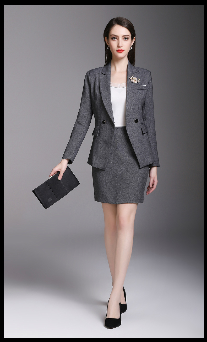 Veste Fille multi 2 Jupe Femmes Custom Pièce Lady Made Déesse Travail Gris Office Cool Costumes Nouveau De Gris SVqMpUzG
