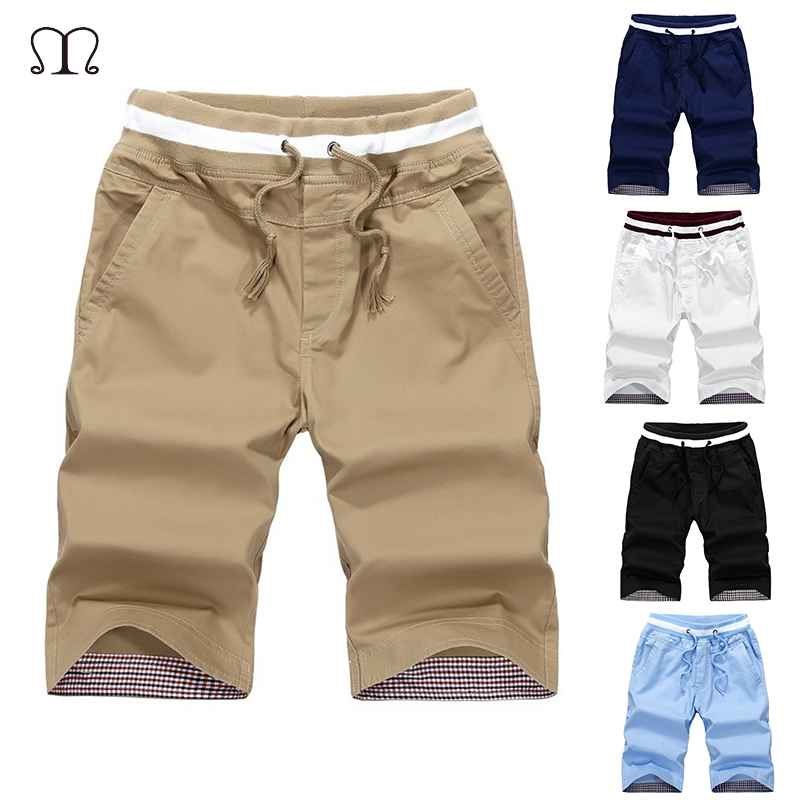 Men Summer Shorts Plus Size Elastic Waist Straight Mens Cargo Shorts With Pockets Casual Slim Fit Breathable Sweatpants Male ...
