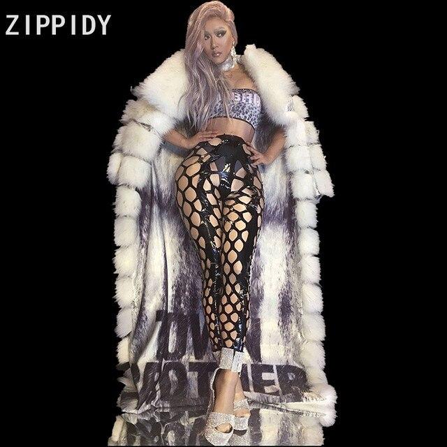 2 Style Silver Stones Bodysuit Hollow Leggings Feather Cloak Outfit Set  Women Singer Dance Stage Nightclub 617c4e7d7ee0