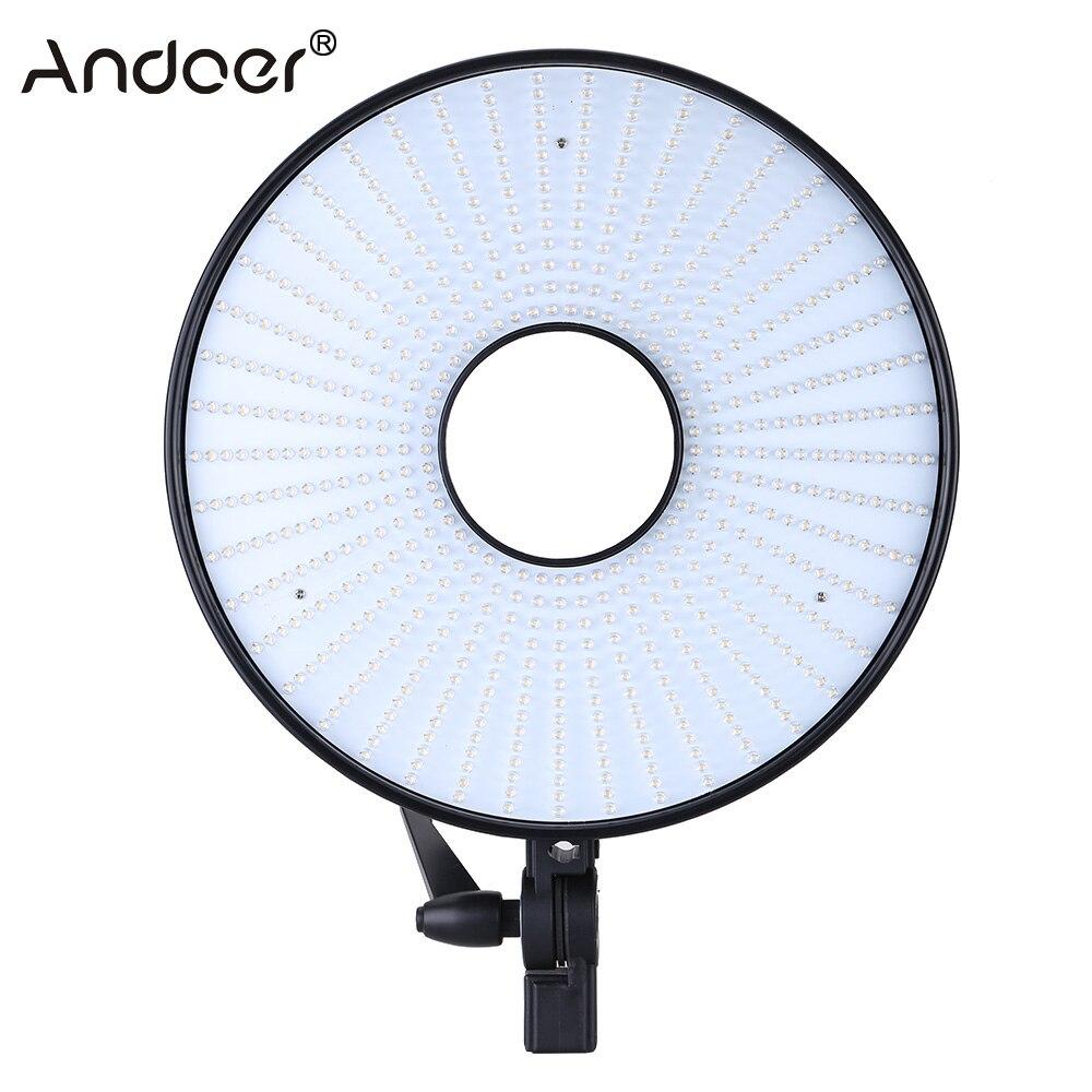 bilder für Andoer 630 stücke Ring LED-Panel Videoleuchten CRI 95 + Dual Farbtemperatur 3000 Karat-7000 Karat Einstellbar Studio Fotografie Beleuchtung Kit