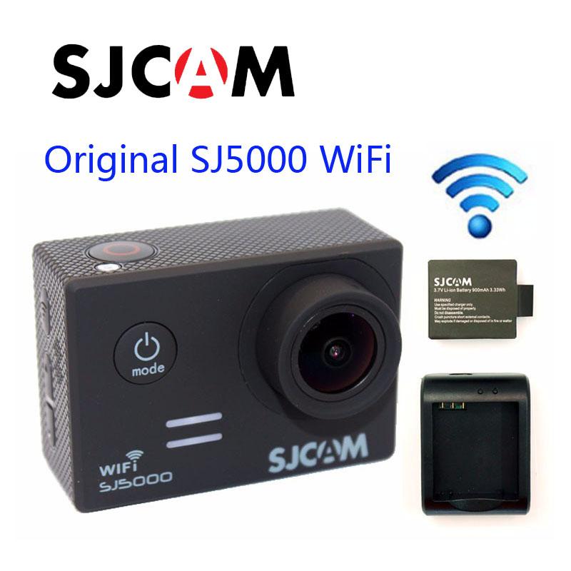 Prix pour Livraison Gratuite!! d'origine SJCAM SJ5000 WiFi Novatek 96655 Full HD Sport Action Caméra + Supplémentaire 1 pcs batterie + Chargeur de Batterie