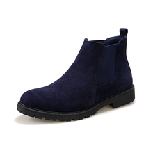The Chelsea Boot Men Suede Hombre Martin Boots Over Heel Leather Ankle Boots Vintage Sewing Thread Britain Botas designer luxury