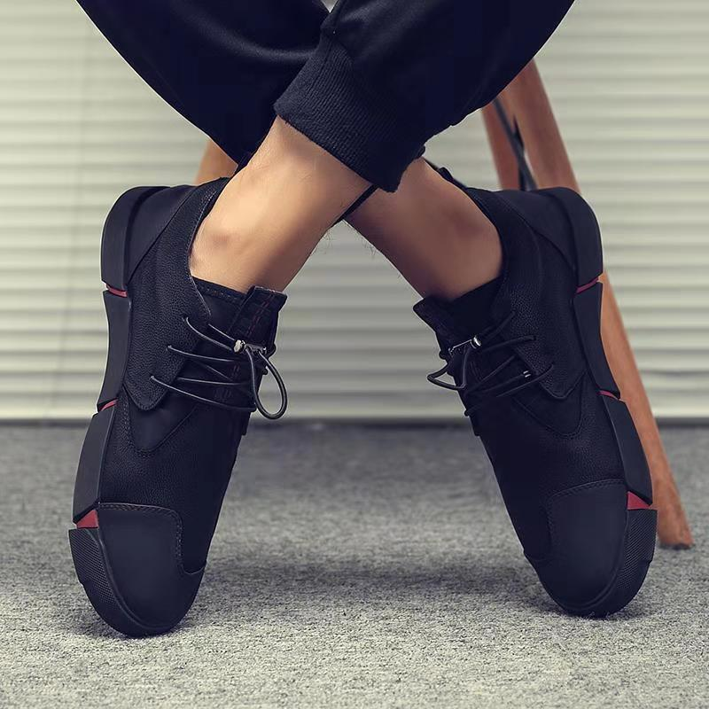 2019 NEW Men s Shoes Sneakers Men High Quality Men Casual Shoes Fashion PU Leather Breathable
