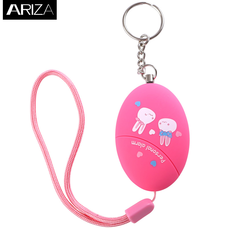 2017 new pink and blue cartoon printing self defense personal key chain alarm support customization for women kids and students stylish hemming chain and striped printing color matching voile scarf for women