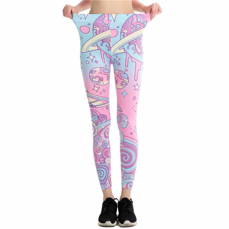 958b505276906d ... Wholesale Cartoon Pink Print Leggings Kawaii Pattern Harajuku Pencil Pants  Women 2017 Fitness Leggins Female Jeggings ...