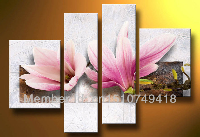 Hand painted home wall art living room bedroom decoration Blooming ...