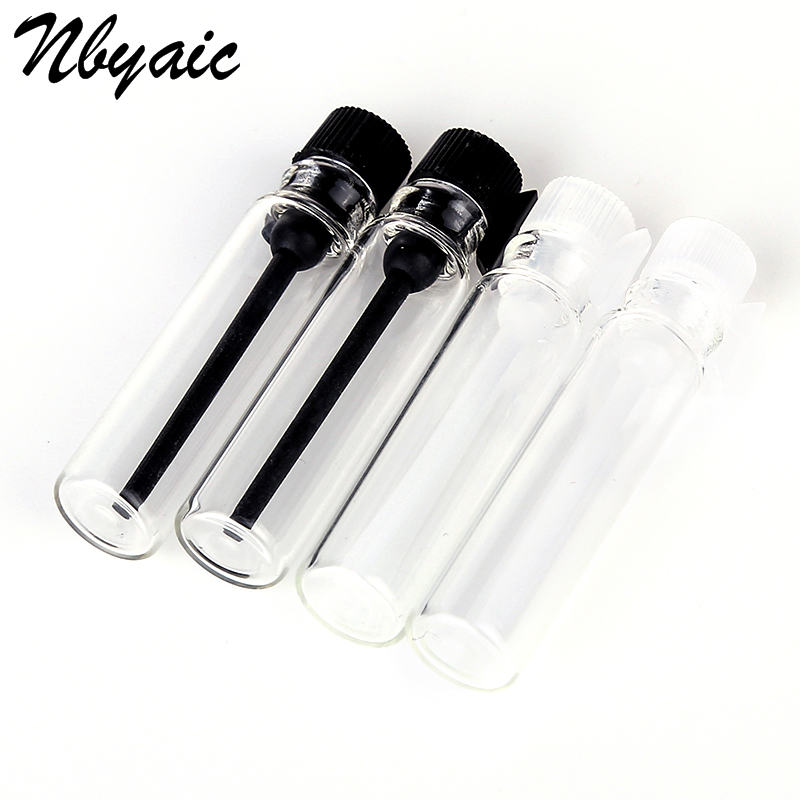 5pcs/lot Mini Glass Perfume Small Sample Vials Perfume Bottle 1ml 2ml Empty Laboratory Liquid Fragrance Test Tube Trial Bottle 2