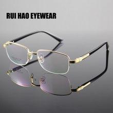 fe468ea123 Large Optical Eyeglasses Frame Men Half Rimless Eyewear Frames Prescription Glasses  Men Spectacles oculos de grau Vitra