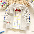 2017 New Spring Baby Boys Clothes False Two-Pieces Baby Coat Long Sleeve Newborn Infantil Boys Gentleman Outwear Clothing 4-24M