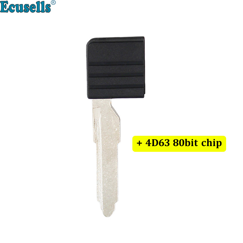 Smart card emergency key blade Maz13 blank for <font><b>Mazda</b></font> <font><b>5</b></font> 6 CX-7 CX-9 <font><b>MX</b></font>-<font><b>5</b></font> Miata RX-8 with 4D63 80bit chip inside image